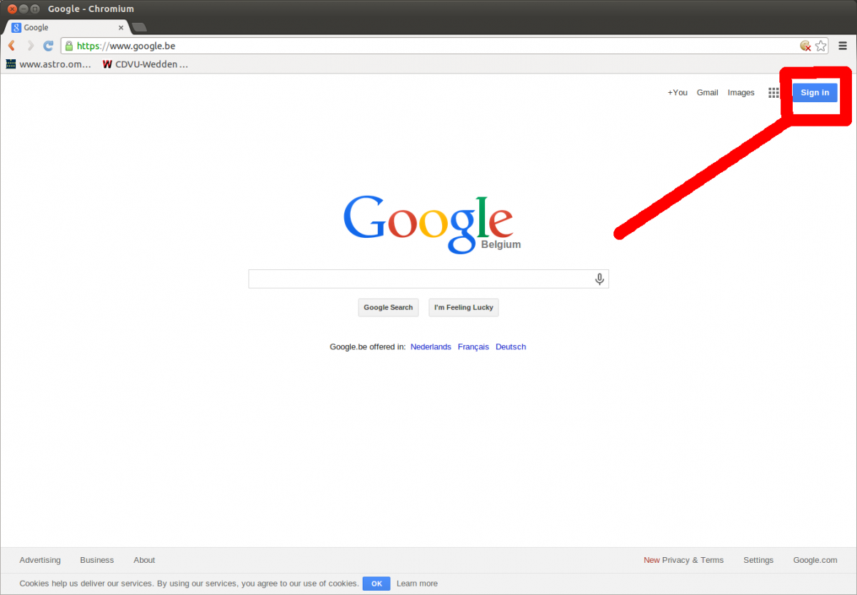 Log in met je google account.